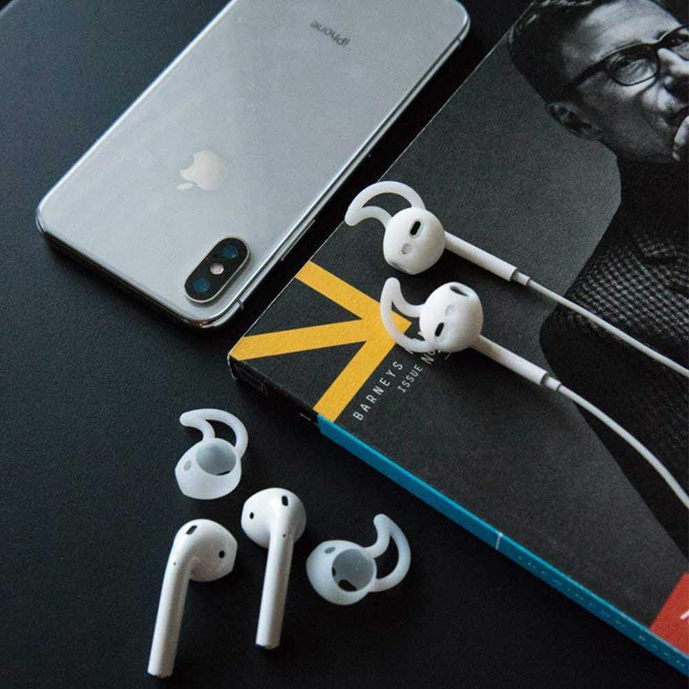 Airpods 用アクセサリー空気ポッド earpods ケース耳フックイヤホン用イヤフォンヘッドフォンシリコーンカバー airpods