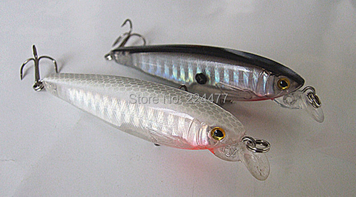 7g 7cm Fishing Lure Minnow Bait Fishing Tackle Chinese Hook Salt Water or Fresh Water Cast Plastic Hard Bait