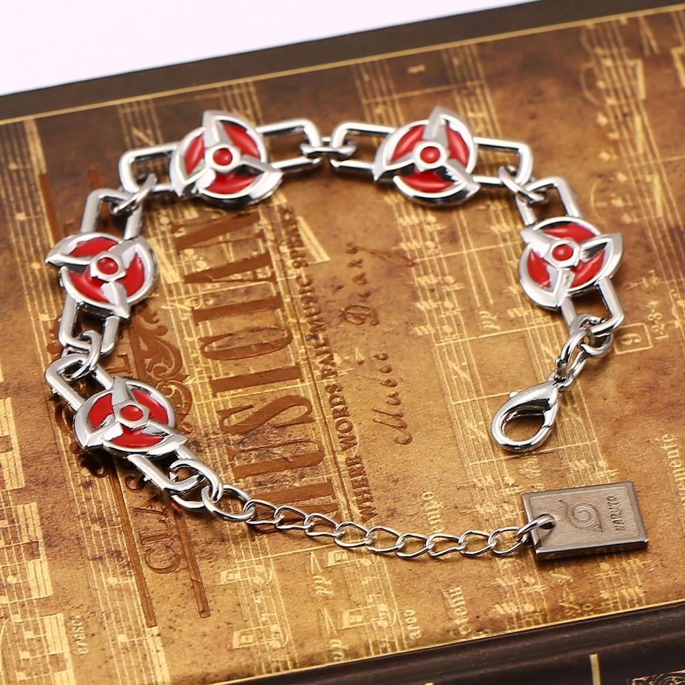 Hot new Naruto Bracelet Hatake Kakashilogo Charm Bracelet Cosplay Bangle Japan Style For Anime Fan Naruto Anime Bracelet Jewelry