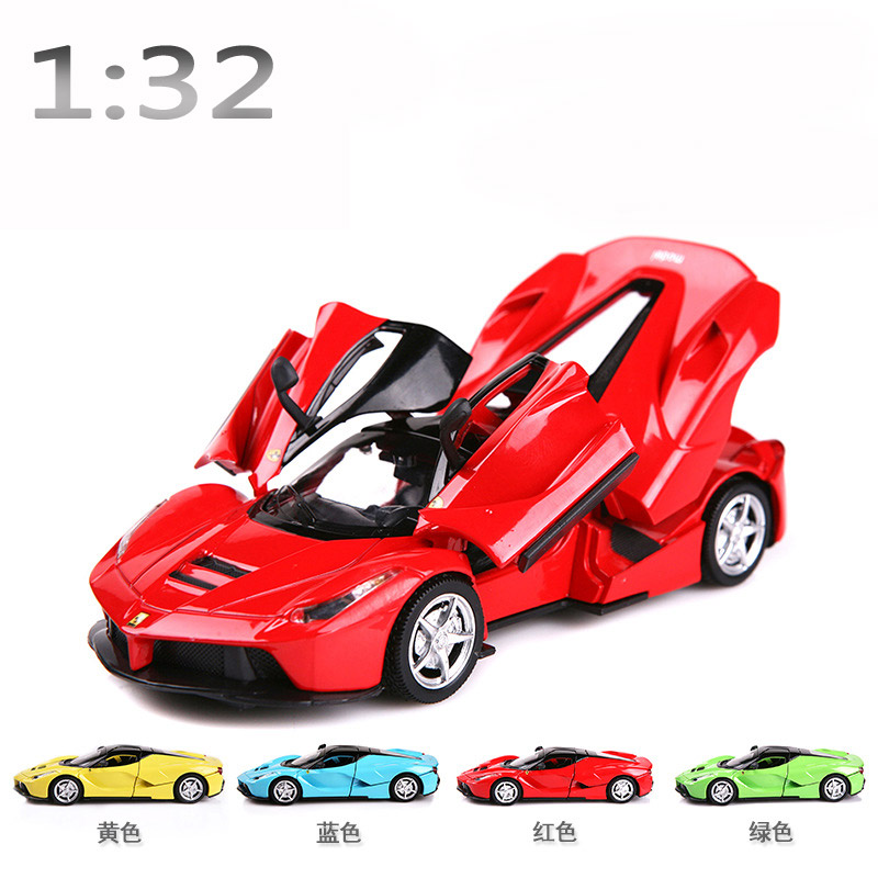 1:32 Supercar Model Alloy Static Model 1/32 Metal Sports Car Pull Back Light Sound Kids Toys Gift