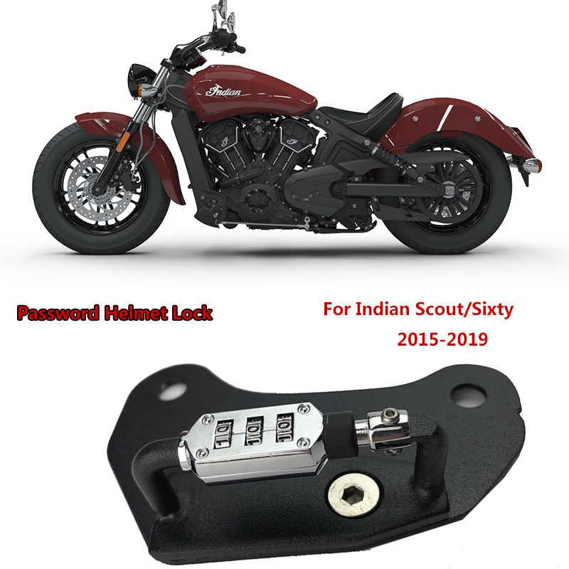 Helm Sepeda Motor Kunci Mount Hook Sisi Hitam-Anti-Theft Cocok untuk India Pramuka 60 2015 2016 2017 2018 2019