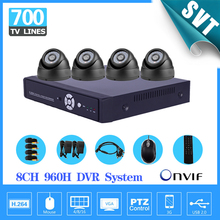 TEATE DVR safety Dwelling eight CH CCTV surveillance Digicam DVR System 4PCS 700 TVL Evening imaginative and prescient Cameras eight channel Equipment for CCTV System
