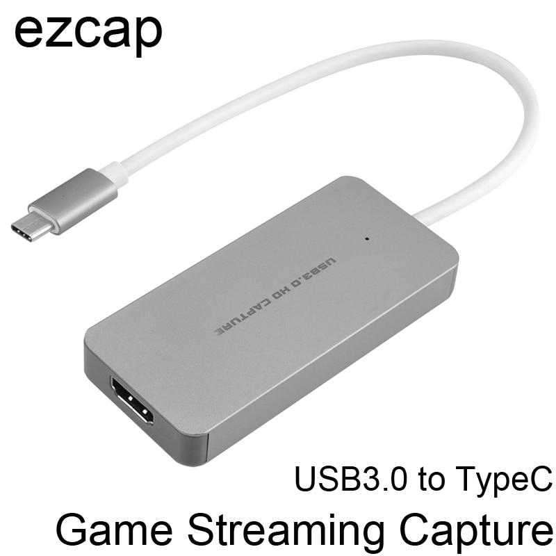 HDMI à Type C USB 3.0 1080 P Jeu Vidéo Carte de Capture Grabber Enregistrement Conférence Live Streaming pour Macbook Mac windows Gagner 10