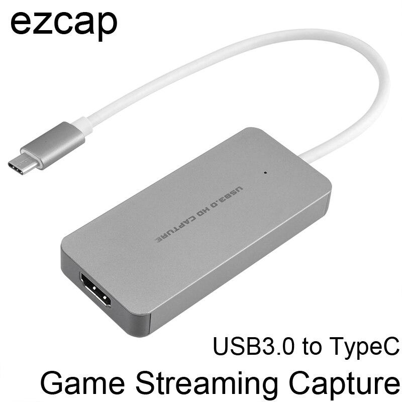 HDMI a di Tipo C HD 1080 p Gioco di Scheda di Acquisizione Video Grabber di Registrazione Conferenza In Diretta Streaming per Macbook Mac Finestre win 10