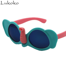 Lukoko Cartoon Cute Child Plastic Sunglasses Kids Girls Boys Wholesale Mirror Sun Glasses For Children Baby Gifts For Guests