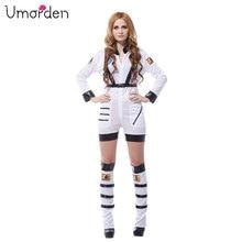 Umorden Purim Carnival Party Halloween Costumes Sexy Astronaut Cosmic Cosmonaut Costume Women Adult White Pilot Cosplay