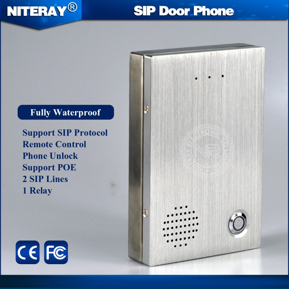 2017 NEW !!! VoIP Remote Control Intercom Doorbell / IP Control Lock support VoIP SIP Phone PBX System