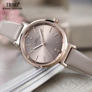 Image 3 - Relógio feminino ibso 8mm, relógio de pulso ultrafino para mulheres, relógio de quartzo na moda 2020 feminino