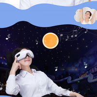 Usb Rechargeable Electric Air Pressure Eye Massager Wireless Vibration Magnetic Far Infrared Heating Glasses With Mp3
