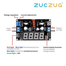 VHM-101 Digital display DC DC 8A 180W Adjustable CC CV Step-down Power Supply Battery Charging Module Voltage ammeter LED Driver ootdty led 5a adjustable power cc cv step down charge module driver ammeter voltmeter