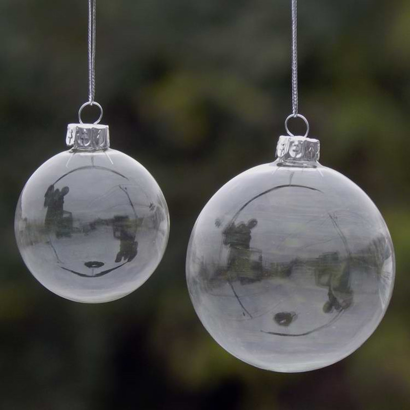 Clear Christmas Ornaments.Us 48 0 72pcs Pack Diameter 6cm Clear Glass Ball Pendant Wedding Or Party Decorative Hanging Ball Glass Christmas Ornaments In Ball Ornaments From