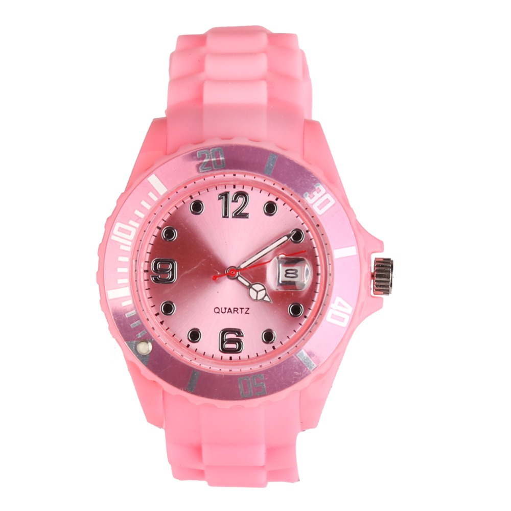 New Fashion Unisex Women Wristwatch Quartz Watch Sports Casual Silicone Reloj Gifts Relogio Fminino Clock Digital Watch Pink