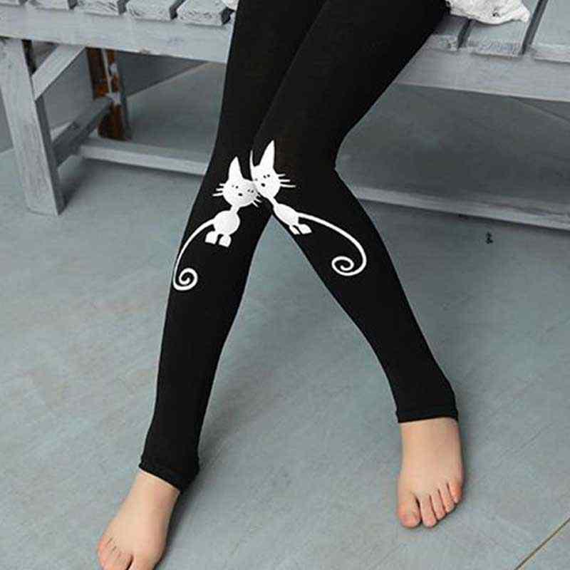 Bé mùa hè Trẻ Em Trẻ Em in hình mèo Cho Bé Cổ Điển Quần Legging bé gái quần Bé Gái quần legging 2-7Y quần legging bé gái