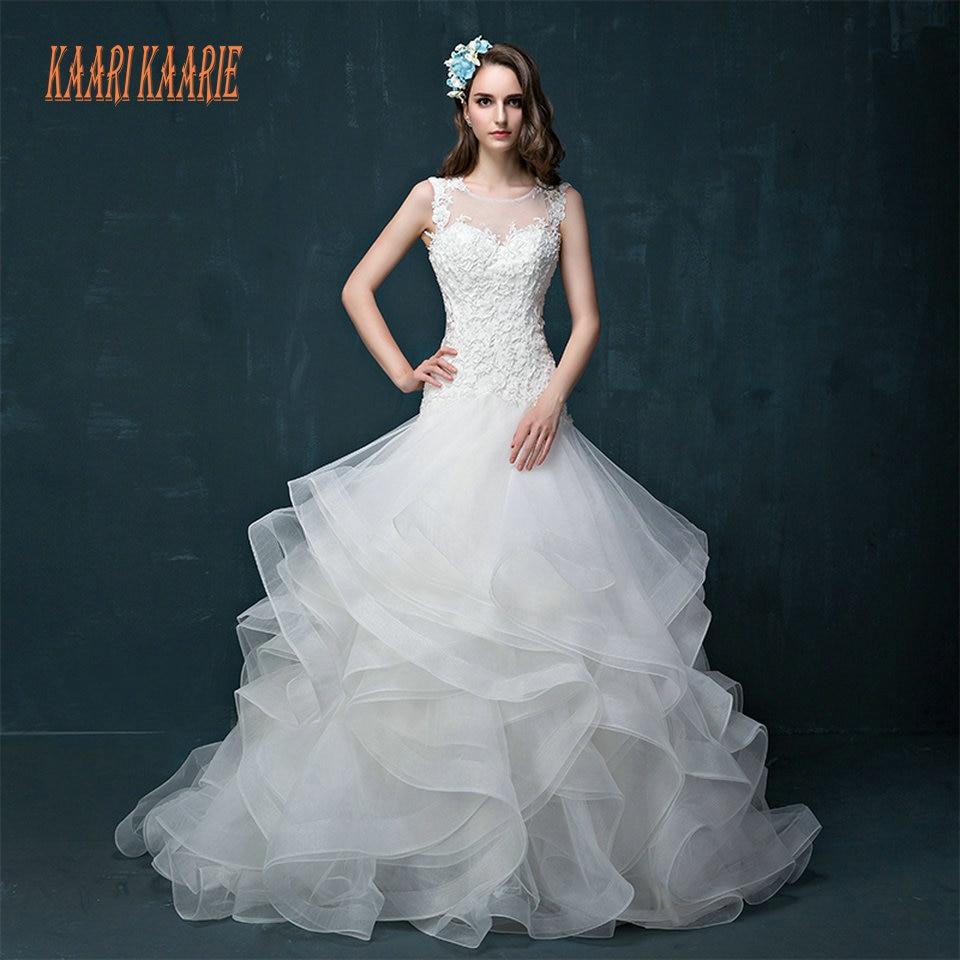 Cheap White Ivory Wedding Dresses Mermaid Lace Appliques: Aliexpress.com : Buy Luxury White Mermaid Wedding Gowns