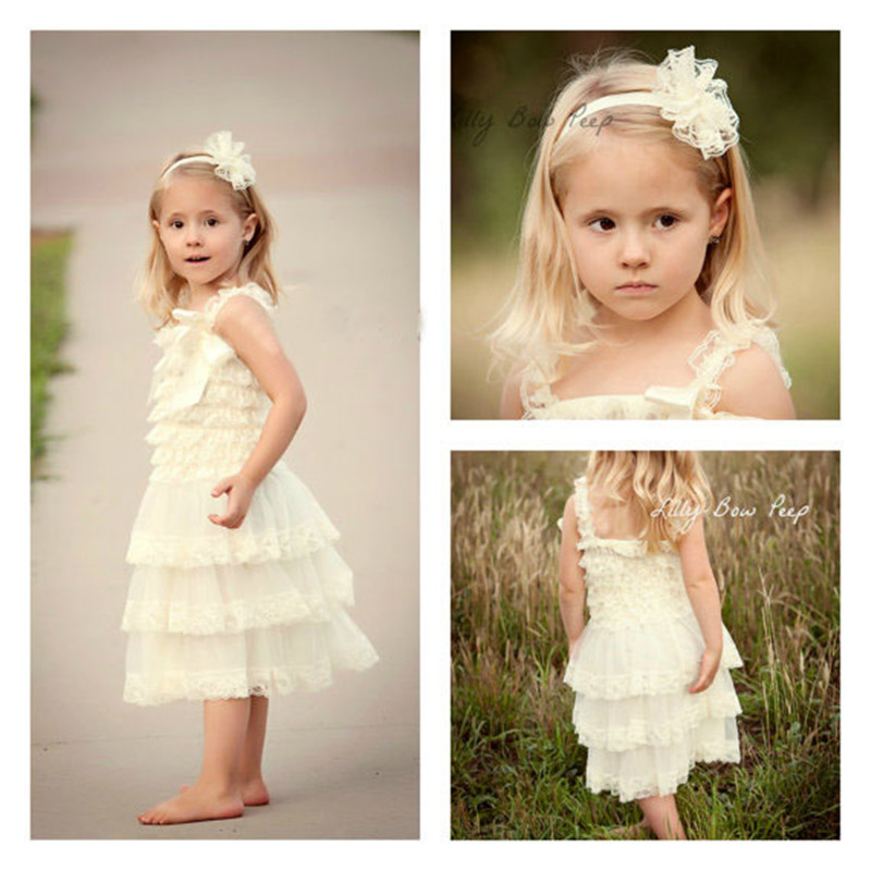 Lace Baby Girl Dress Summer Style Sleeveless Shoulderless Fluffy 3 Layer Flower Princess Pageant Party White Wedding Baby Dress Платье