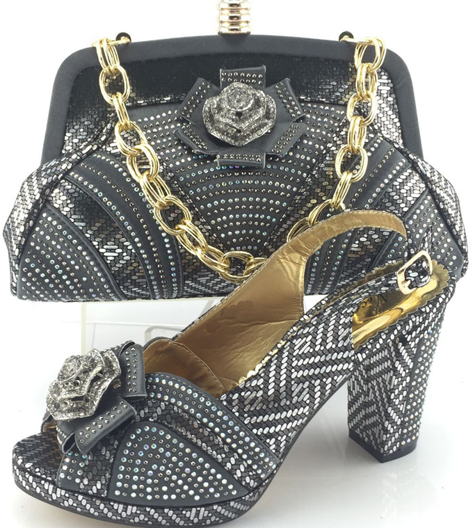 Free Shipping with 2016 Italian Shoes With Matching Bags For Party High Quality African Shoes And