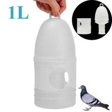 Pet Birds Drinker With Handle Plastic Pigeons Water Pot Dispenser Container Pigeons Birds Supplies 1L Feeding Tools Accessories