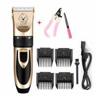 Профессиональный триммер для волос для домашних животных из нержавеющей стали, машинка для стрижки собак, кошек, когтей, электрическая пере...