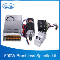 500W CNC Brushless Spindle Motor ER11/ER16 Collect Milling Machine 55mm Clamp Stepper Motor Driver Switching Power Supply