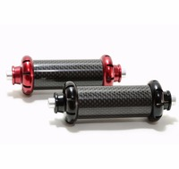 Powerway R36 road bicycle ceramic bearing Hub Black/Red Aluminium alloy Carbon Straight Pull 16 or 20 holes Front hub