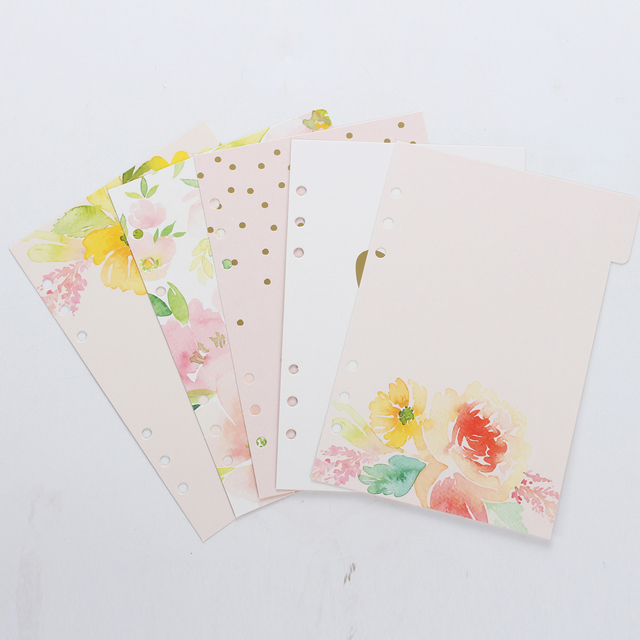 new cute spring series spiral notebook divideroriginal creative
