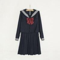 Neue Ankunft Japanischen Anime Cosplay Kostüme Japanischen Harajuku Matrosenkragen Navy Schule Mädchen Langarm Uniform Mit Roter Schleife
