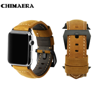 Handmade Italy Assolutamente Vintage Genuine Calf Leather Watch Strap For 42mm Iwatch Apple Watch Band