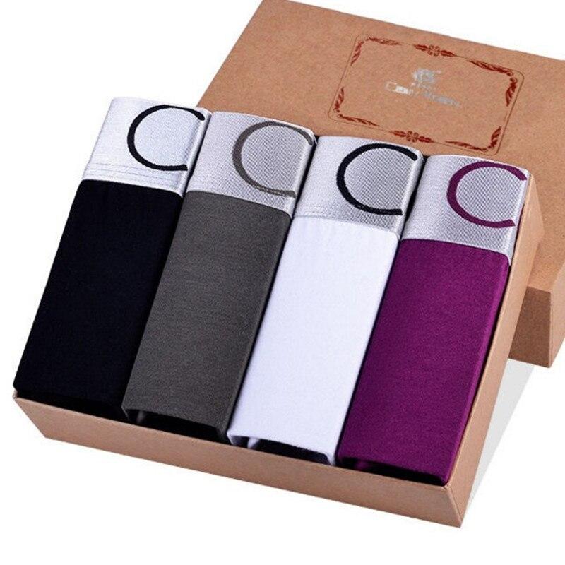 High Quality Luxury Brand Mens Underwear Boxer Cotton Modal Fake Designer Male Boxer Shorts Brand Under Wear Plus Size Wholesale