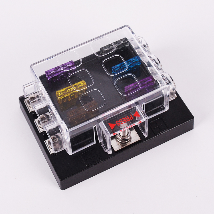 online buy whole automotive fuse box connectors from 32v 6 way universal car truck automotive blade fuse holder box circuit ato atc wth fuse