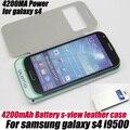 3200 мАч Power Bank Внешняя Батарея Флип Дело Чехол для Samsung Galaxy S4 I9500, бесплатная доставка