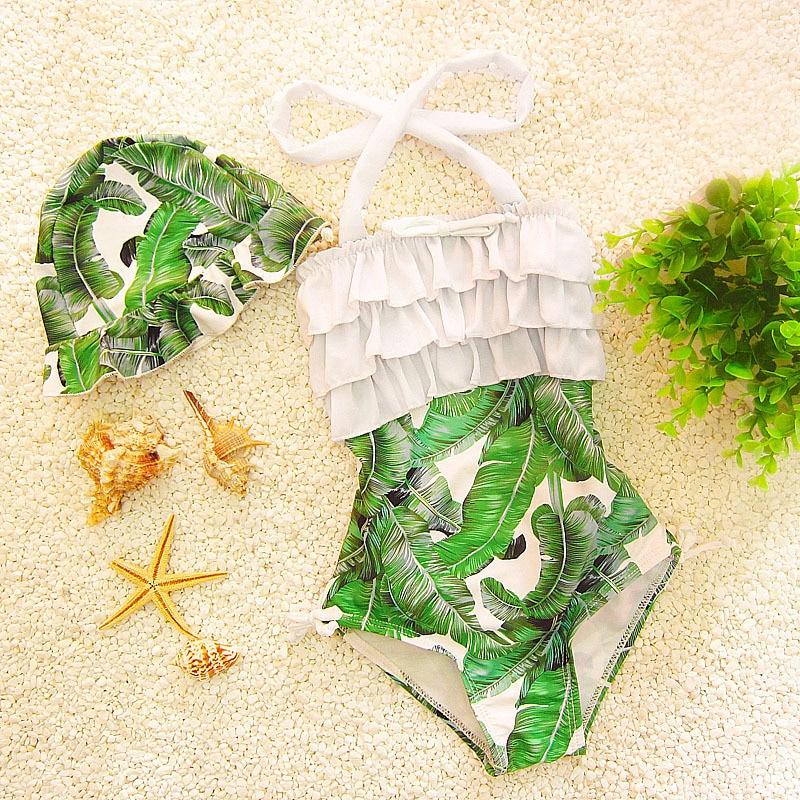 Children's Swimwear Girl Children Child Bikini For Baby Swim Wear Kids Cute Swimsuits 2017 New Bubble Suit Printed Size Biquini