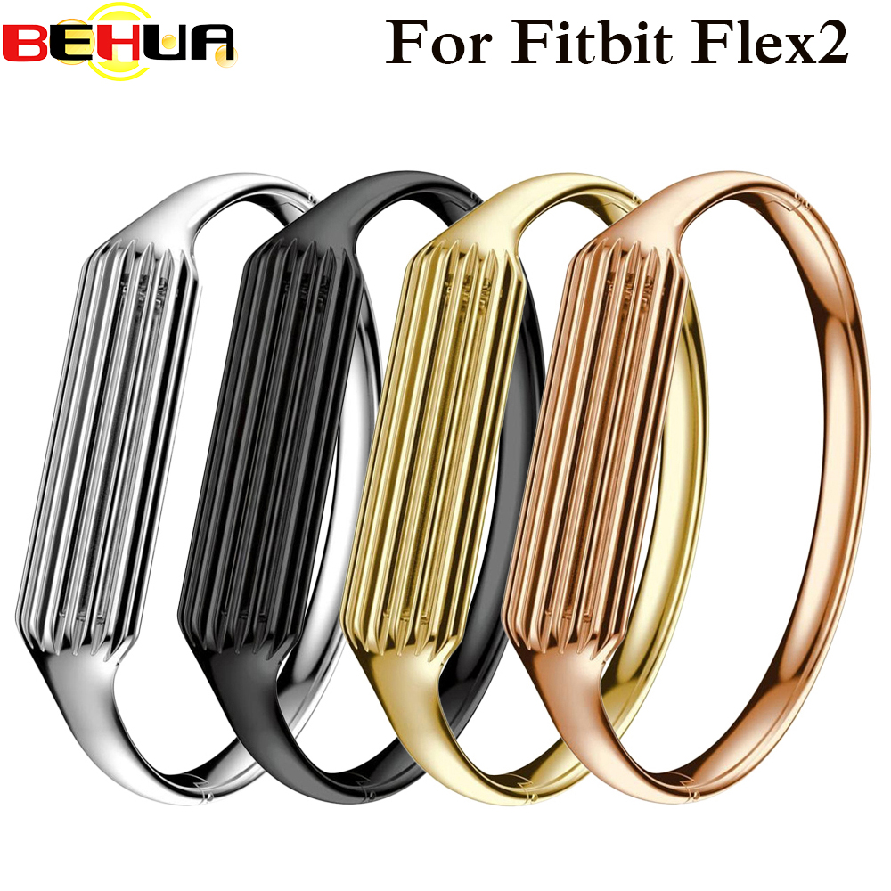 Fashion Accessory Genuine Stainless Steel Watch Band Luxury Smart Wrist Strap Bracelet Bangle For Fitbit Flex 2 Mater watchband