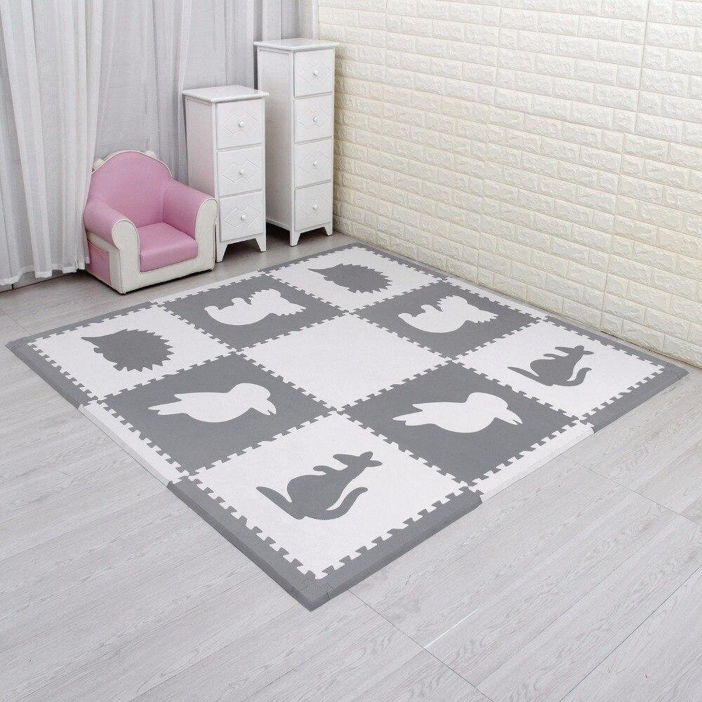 Meiqicool 9 pièces eva tapis 60*60 CM bébé EVA tapis de sol enfants jouer jeu Pad bébé ramper Puzzle tapis Eva mousse tapis 1.5 cm