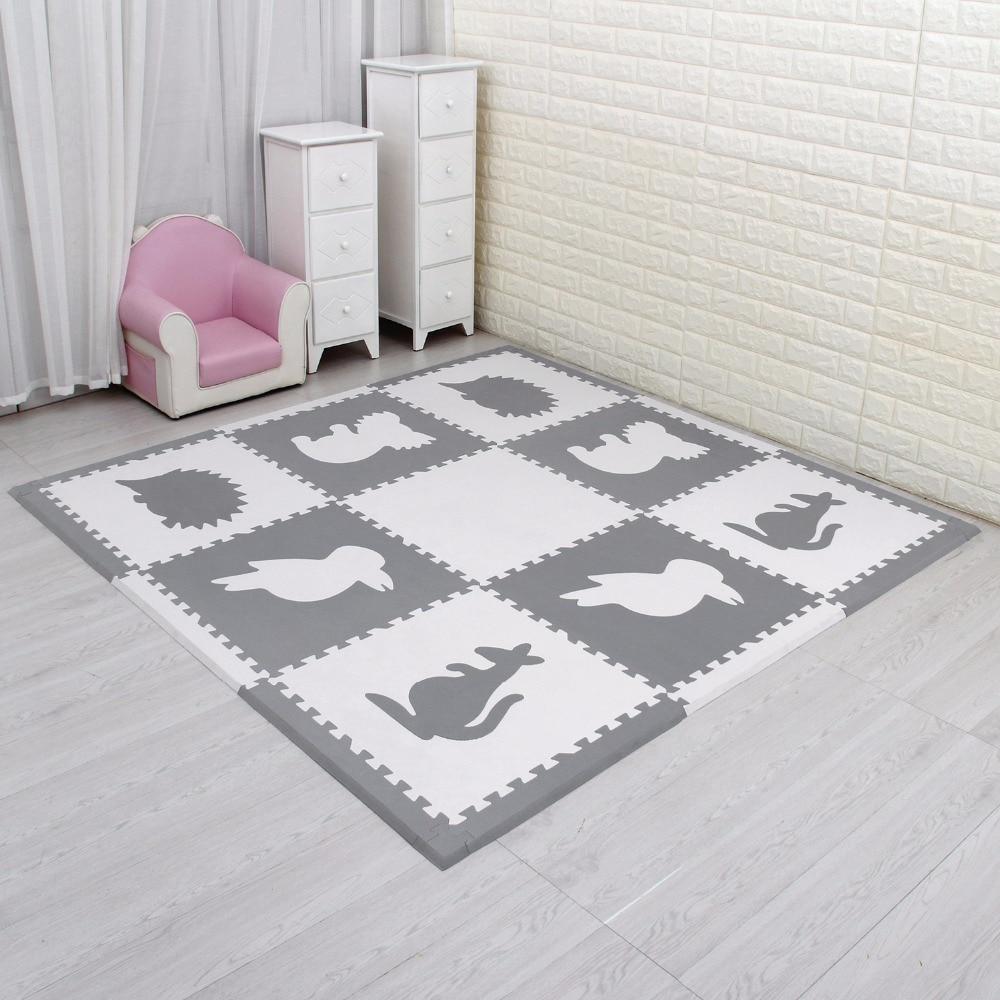 Meiqicool 9pcs Eva Mat 60 60cm Baby Eva Floor Mat Children