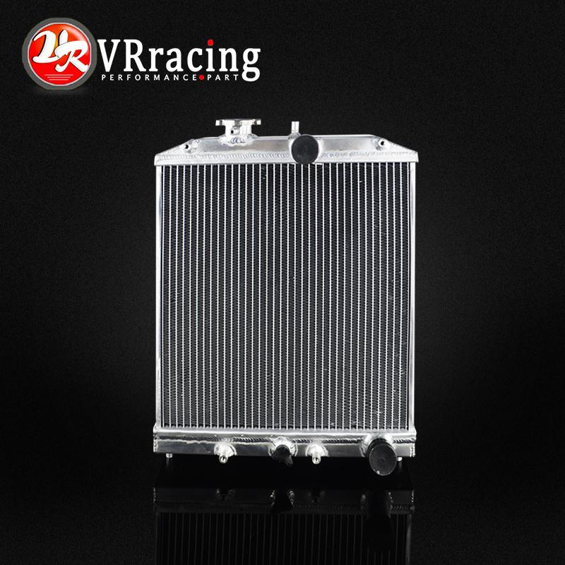 VR RACING-3 Rangée 52 MM Plein Radiateur En Aluminium Pour HONDA CIVIQUE B18C/B16A 32 MM DANS/OUT VR-SX104
