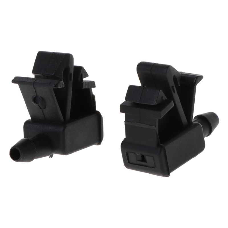 2Pcs Plastic Windscreen Washer Water Jet Spray Nozzle Car Front Windshield For Citroen For Peugeot