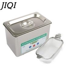 JIQI Ультразвуковой очиститель из нержавеющей стали стиральная машина для ванной очки ювелирные часы протез мини ультразвуковая волна очистки резервуар ЕС