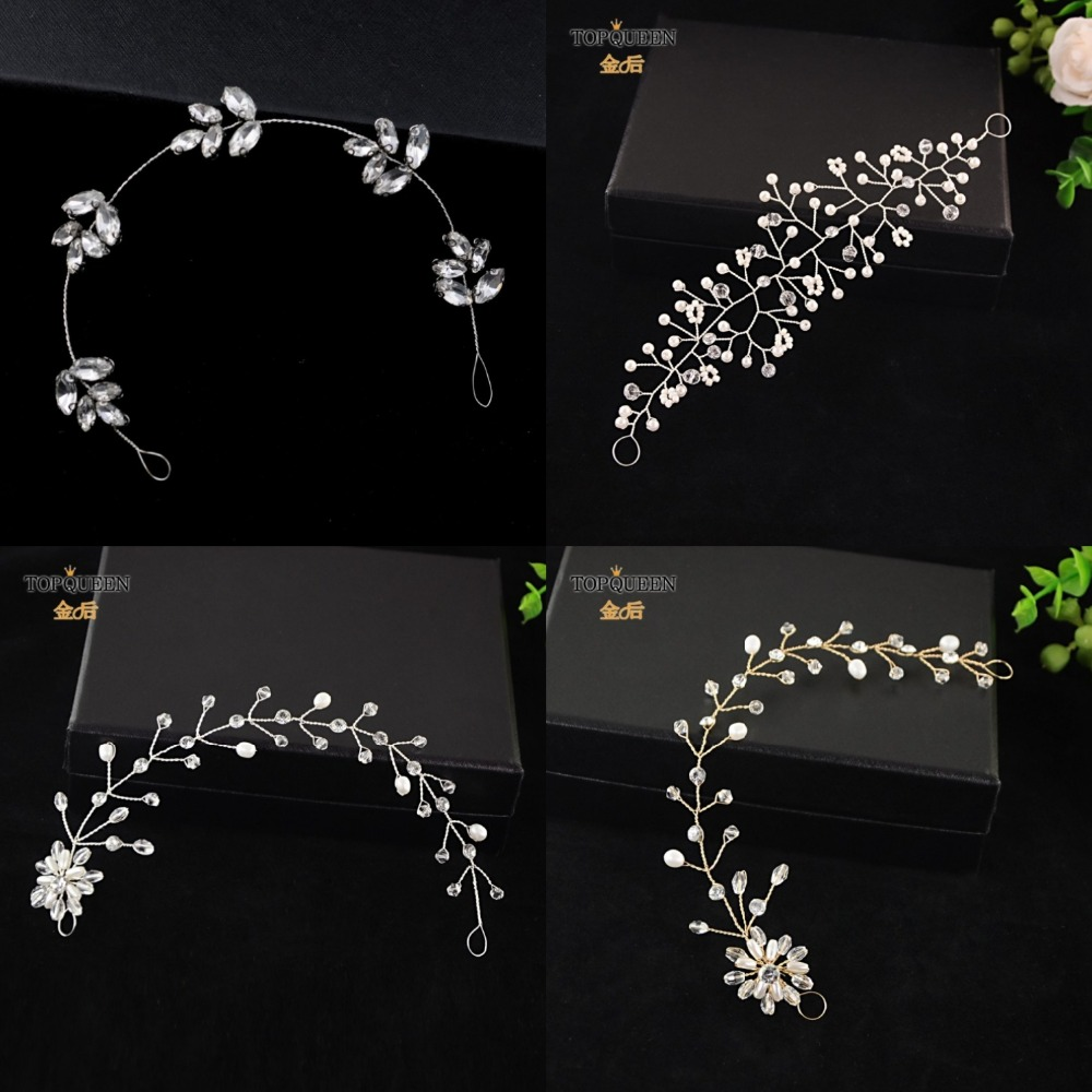TOPQUEEN Many Styles Bridal Headpiece Hair Jewelry Wedding Accessories Headpieces With Pearls And Crystal Fast Shipping In Stock