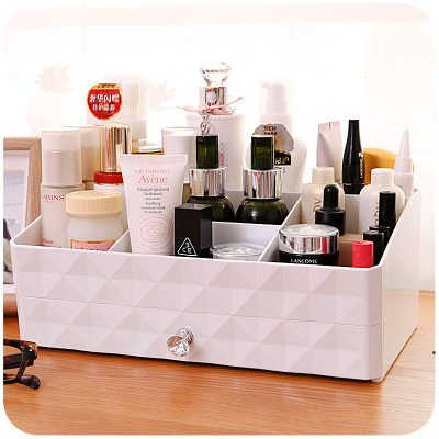 Aliexpress.com : Buy Double Layer White Makeup Cosmetic Organizer ...