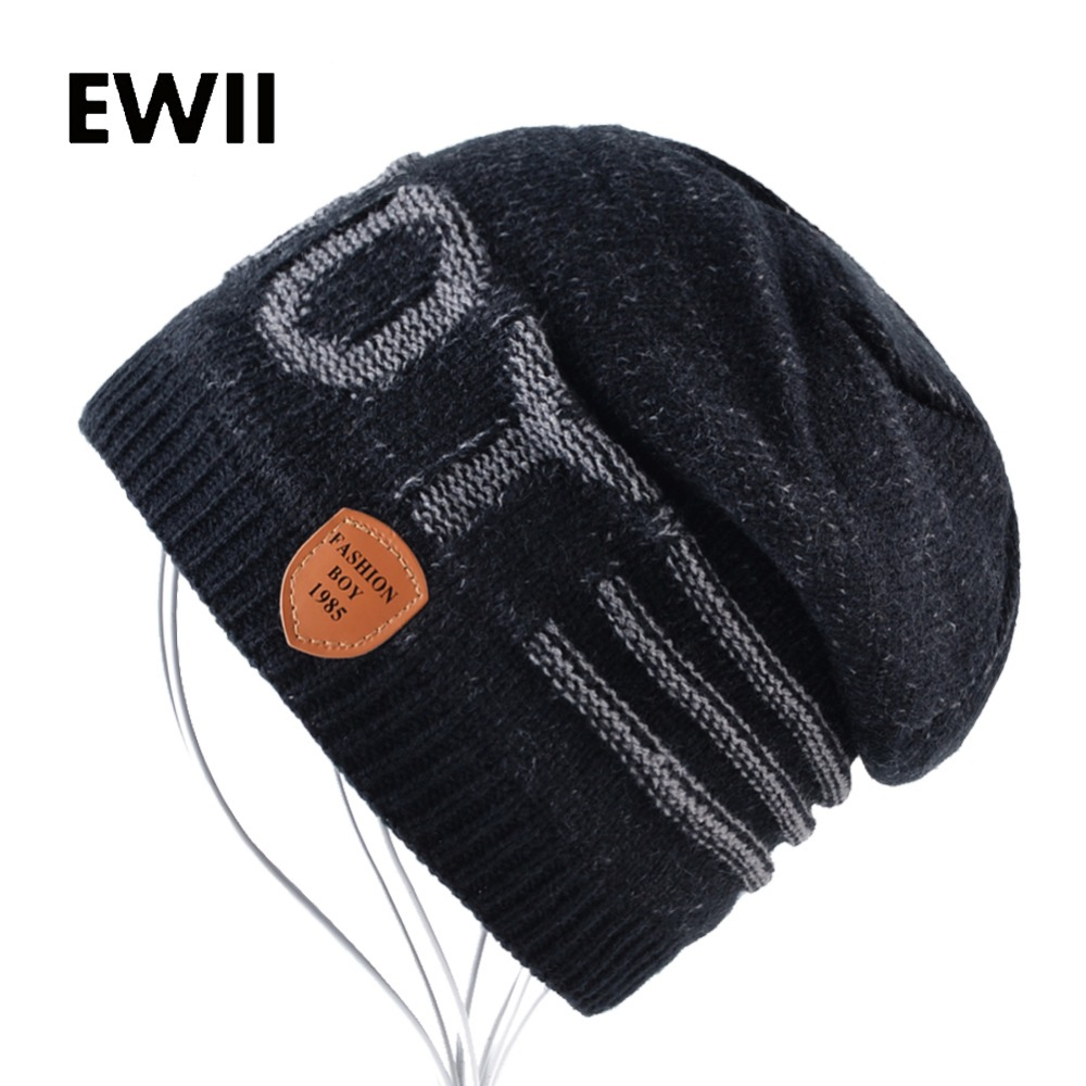 Unisex letter beanie hat for men winter cap women knitted hats skullies beanies men warm knit caps womem bonnet gorra hombre winter solid color hats for men knitted wool hat skullies beanies warm cap men hip hop beanie caps gorra hombre bonnet