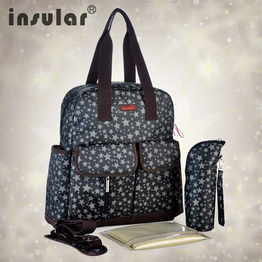 Insular 4 colors Baby Diaper Nappy Bag Multifunctional Baby Mommy Bags Stars Nappy Stroller Backpack Bags
