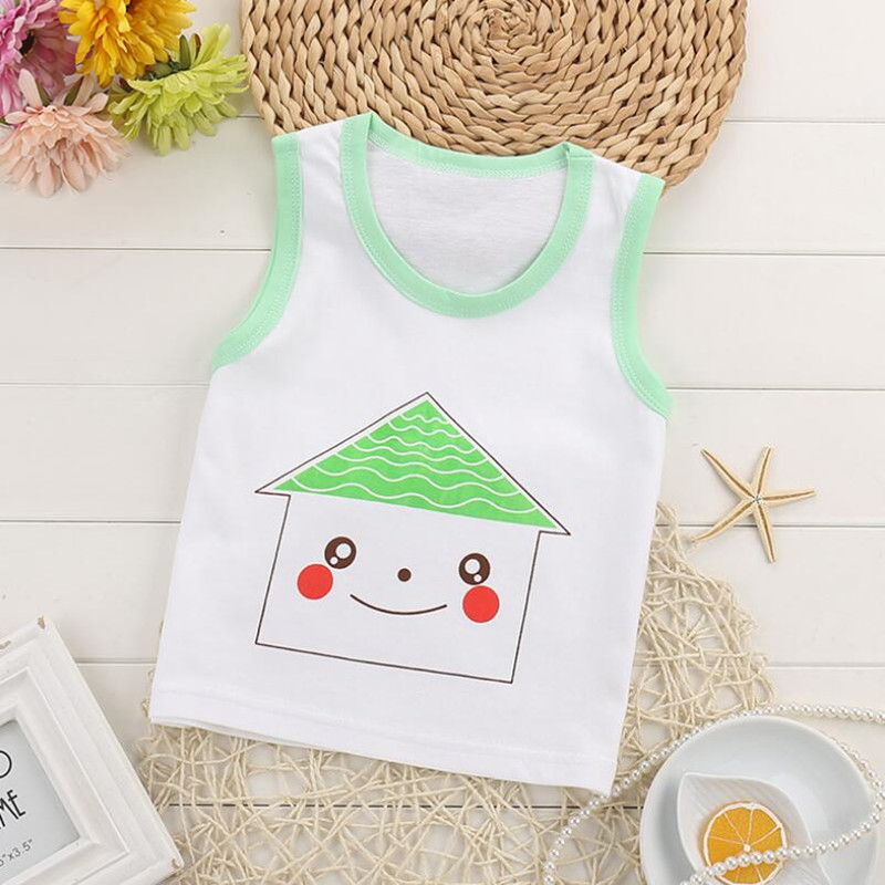 High Quality Baby Girls Boys Tanks Tops Children Cotton Vest Kids Underwear Sleeveless Undershirt Camisoles Free Ship