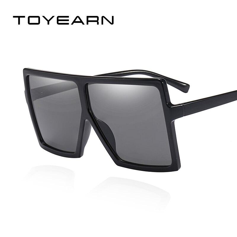Fashion Brand Designer Oversized Square Sunglasses Women Flat Top Shield Goggle Gradient Shades Big Frame Sun Glasses For Female