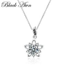 Романтическое серебряное ожерелье, роскошное 925 пробы Серебряное ювелирное изделие, ожерелье со звездой, женское свадебное ожерелье, s Подвески P027