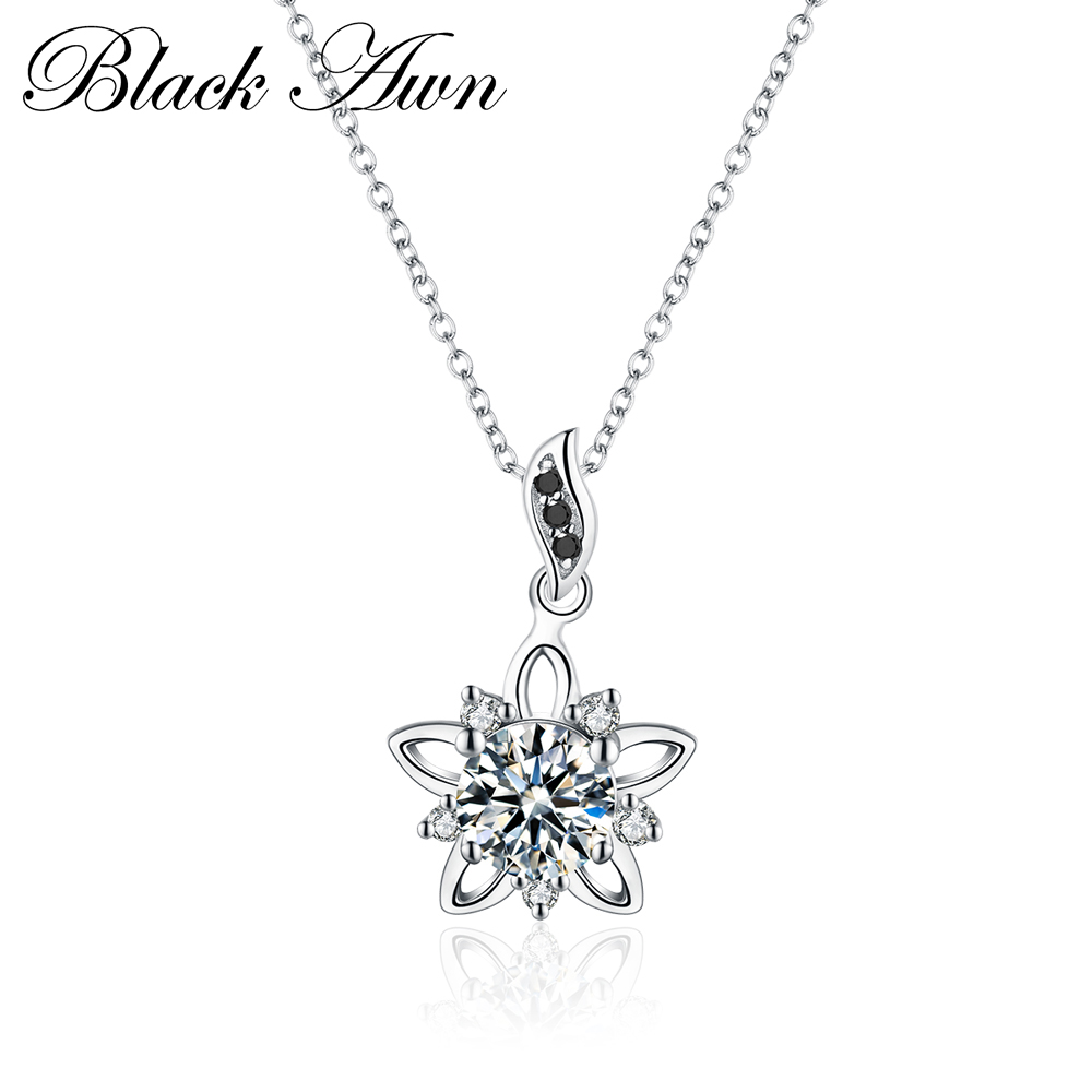 RomanticSilver Necklace Luxury 925 Sterling Silver Fine Jewelry Star Necklace Women Wedding Necklaces Pendants P027
