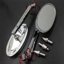 For Motorcycle Suzuki GSXR600 750 1000 1100 CHROME Motorcycle LED Turn signal Oval mirrors
