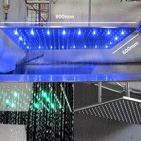 Прямоугольник douchekop 800*600 мм светодиодный тропический душ большой насадки для душа 304 Нержавеющаясталь настенный Ванная комната кран аксес