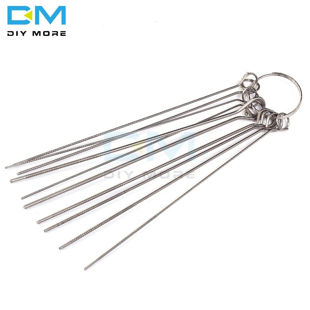 10 Kinds PCB Electronic Circuit Through Hole Needle Stainless Steel Needle Set Desoldering Welding Repair Tool 80mm 0.7-1.3mm