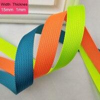 50 Yards 15mm Breite Polyester Nylon Gurtband Dicke 1mm Für Tasche Nähen Gürtel Rucksack Umreifung Band DIY handwerk 40 Farben