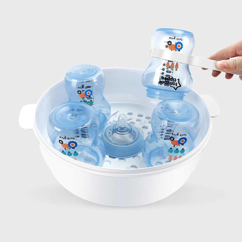 AAG ทารกขวดความปลอดภัยเตารีดไอน้ำไมโครเวฟชุด BPA ฟรีขวดเด็กจุกนมหลอก Disinfection ไอน้ำกล่อง *